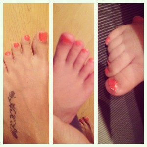 Yes, I had to match my girls. They needed a pedi too!