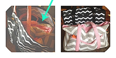 thirty-one utility tote size