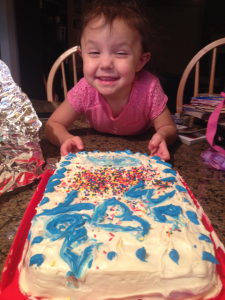 child making a cake
