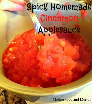 applesauce with red hots