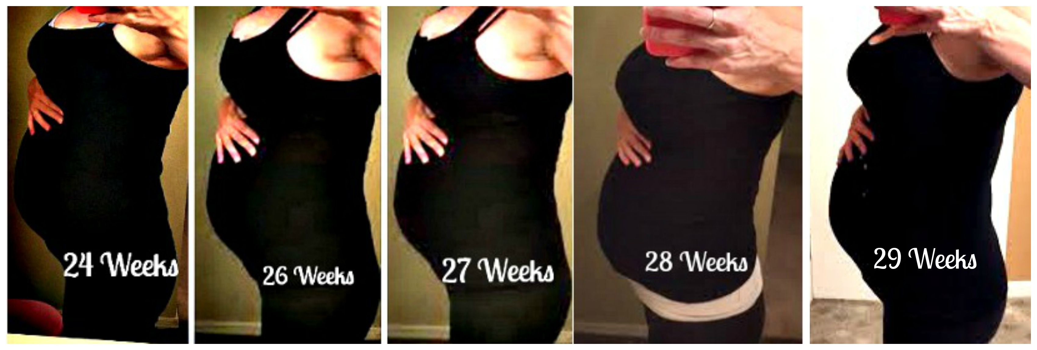 ... weeks twin belly growth ...