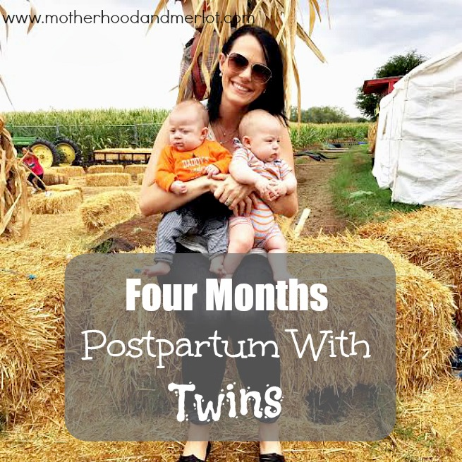 twins at four months