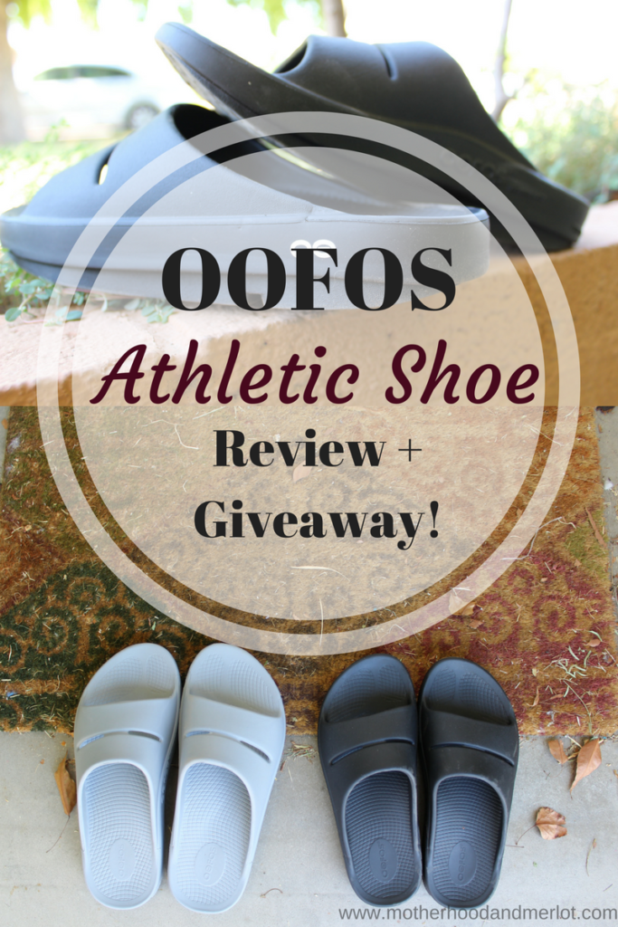 A review of the OOFOS Athletic shoe, shoes that help your feet recover faster. Plus, a giveaway!