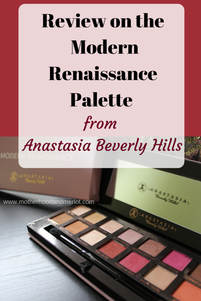 A full run down with photos and details of the new palette from Anastasia beverly hills. the modern renaissance palette review