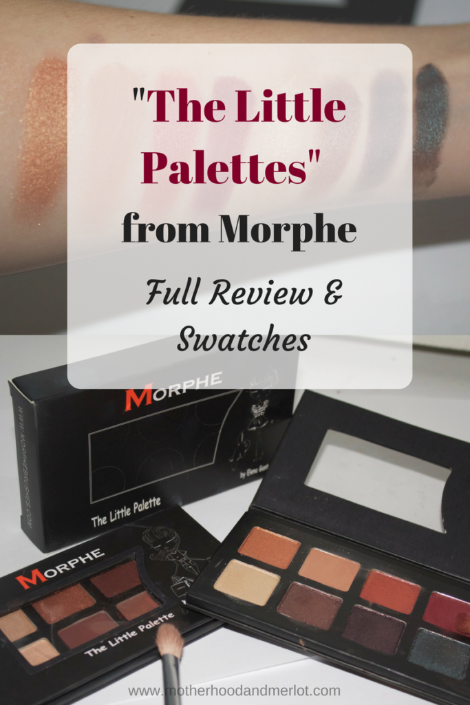 Full swatches and run down of two of the new Morphe The Little Palette. Images, light and no flash swatches, and a makeup look.