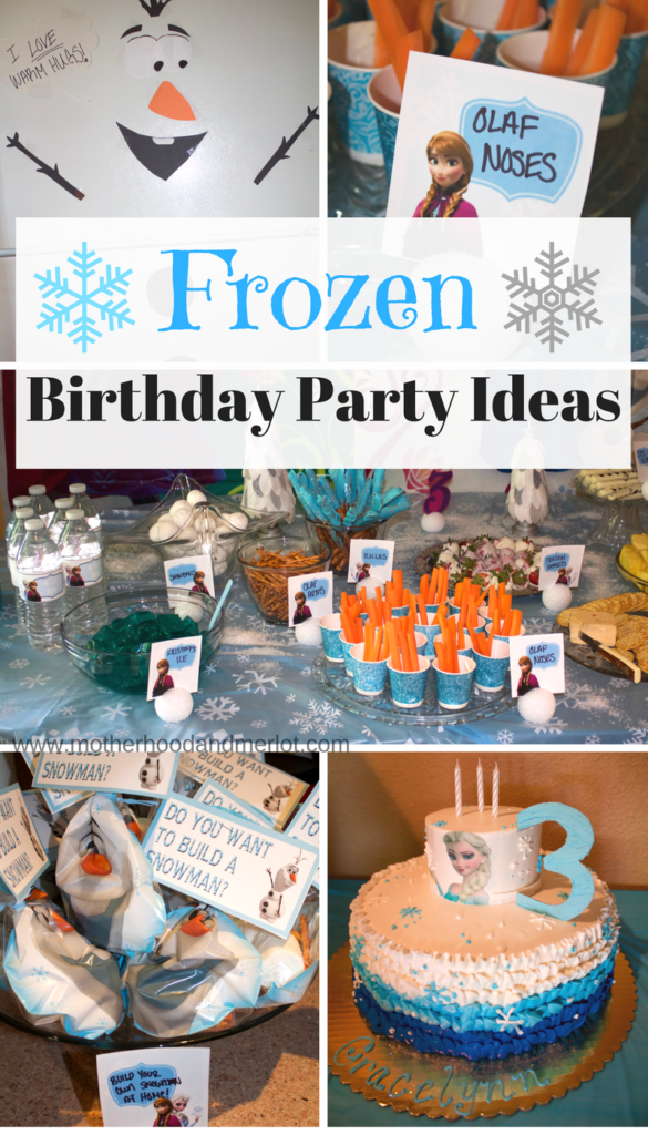 Disney Frozen Birthday Party for a 3 Year Old Motherhood and Merlot