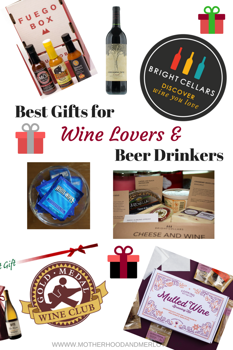 Find some great ideas on the best gifts for wine lovers and beer drinkers, including some amazing food items to pair with them.