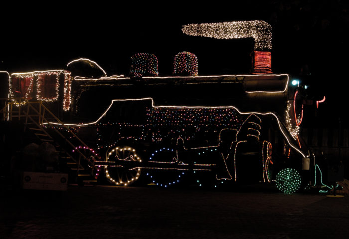 Train With Christmas Decorations