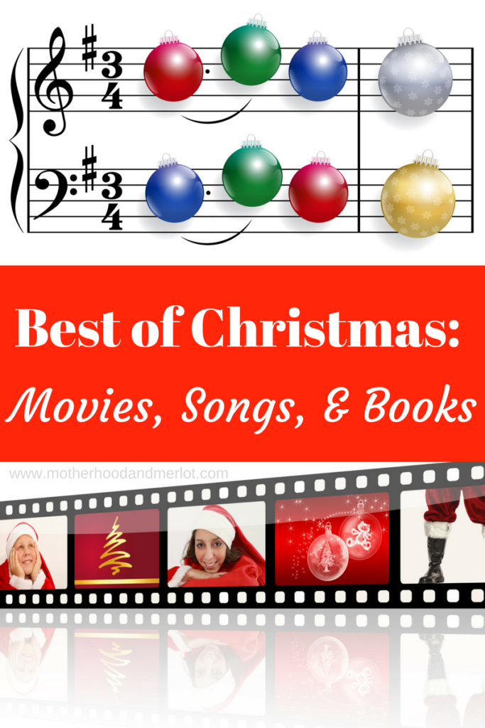 A list of the best christmas movies, songs, and holiday books for the entire family! Add these to your holiday collections.