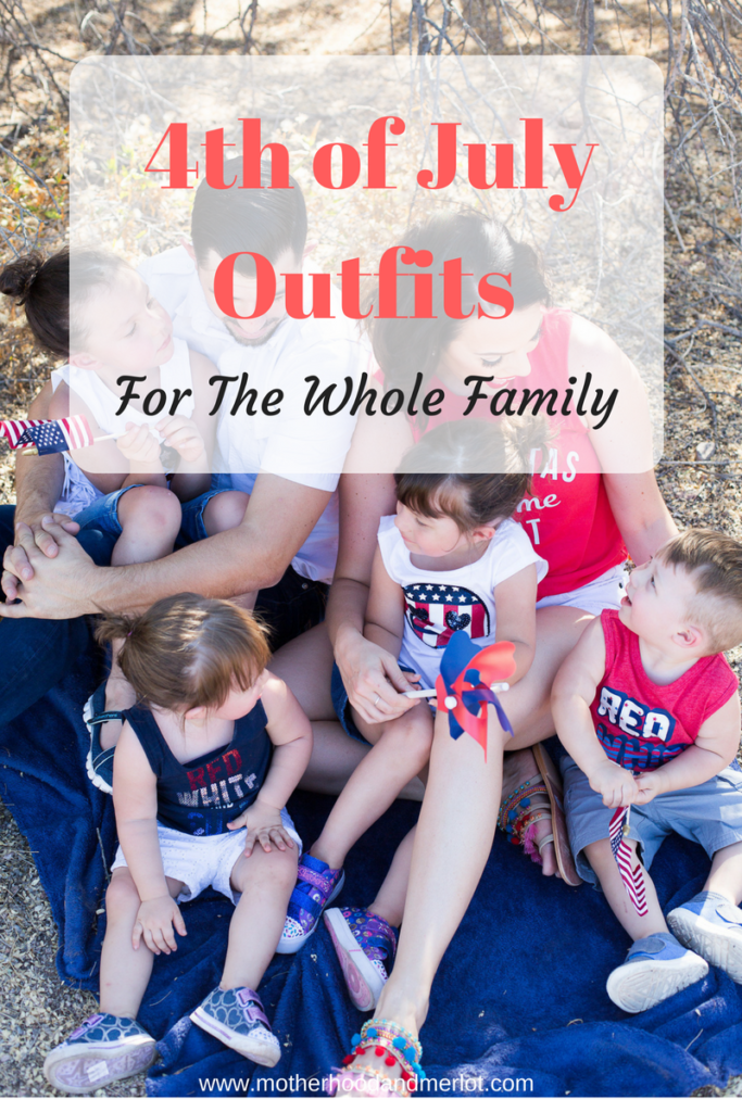 July is right around the corner! Here are some great ideas to dress your family head to toe. 4th of July outfits for the whole family.