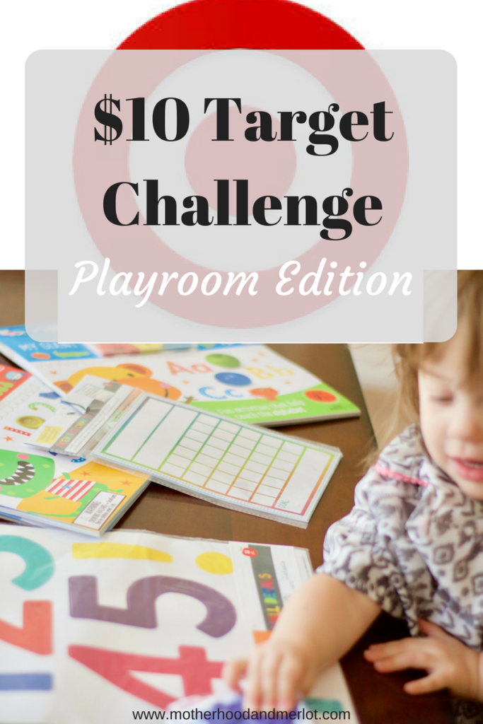 Have you heard of the $10 Target Challenge? Today we are putting it to the test with trying to get as many playroom items for $10 and under as