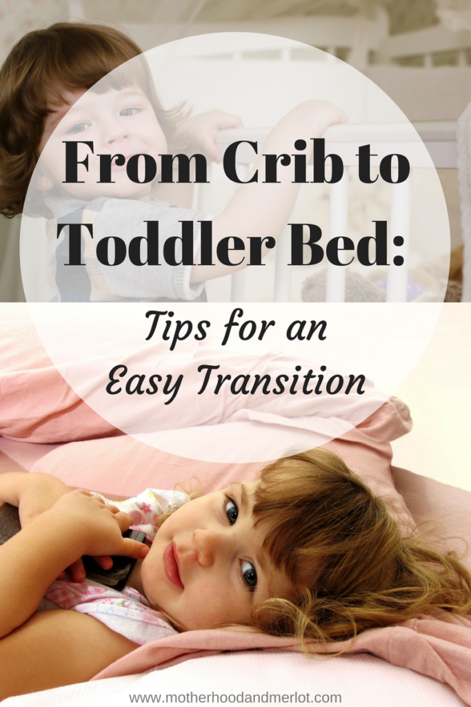 Going from the crib to a normal bed can be hard for little ones. Here are some tips for transitioning from crib to toddler bed, from a mom of 4.