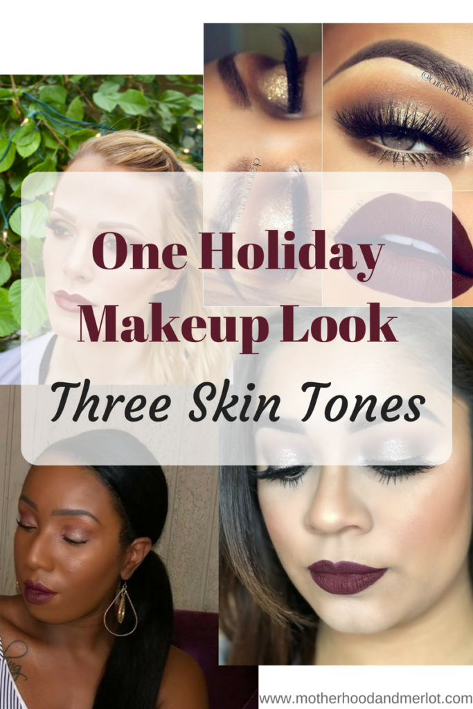 The holiday season is in full swing, and today I am sharing one holiday makeup look idea, modeled on three different skin tones. Perfect for everyone;)