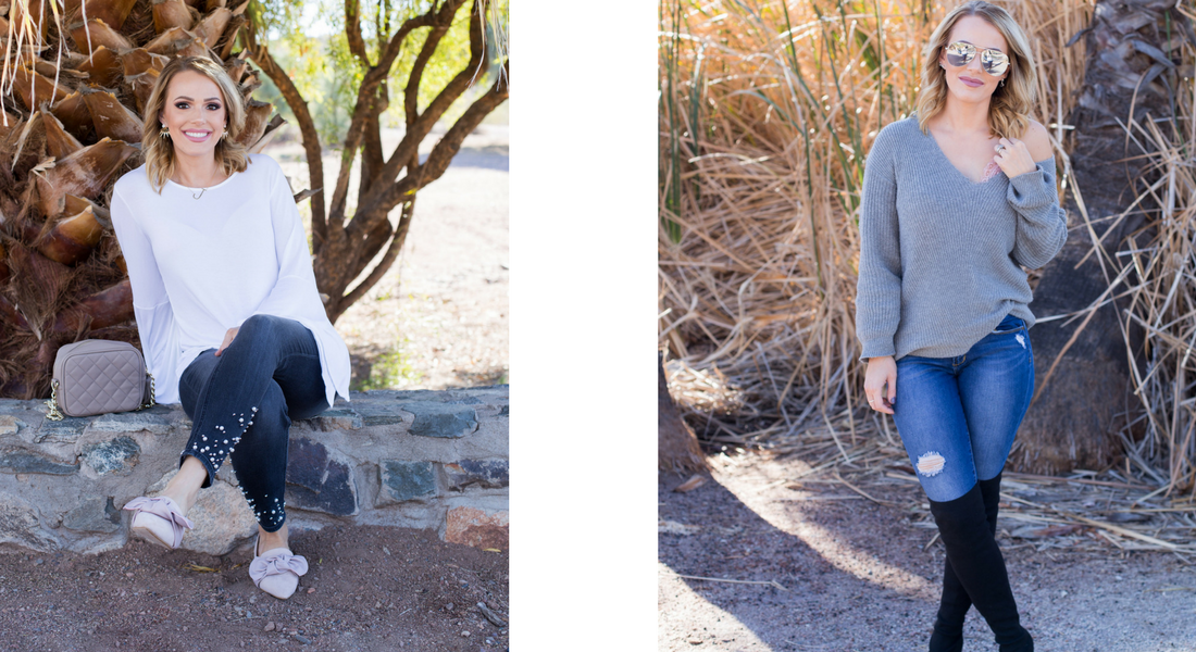 Winter Grays and Spring Whites: Spring Transition Outfits