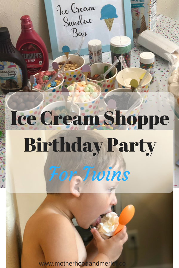 Tips and ideas on how to throw an Ice Cream Themed Birthday Party. We threw one for our twins and it was a big hit! Food ideas, decor, and more.