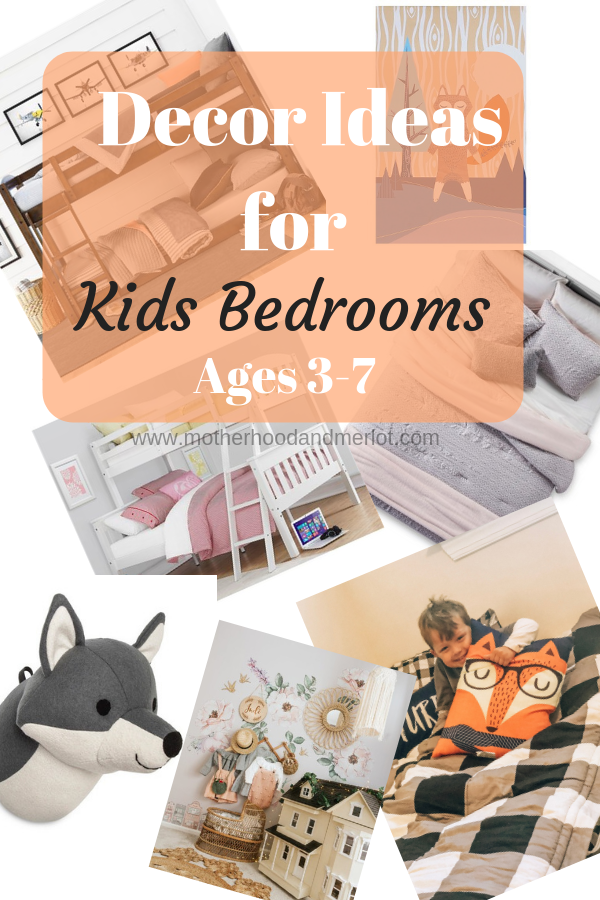 Redecorating rooms, espeically kid's rooms, can be so much fun! Here are two decor ideas for kid bedrooms, ages 3 to 7: a set of twins and two older girls.