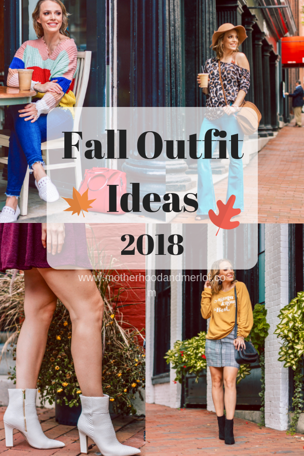 Fall trends right now are AMAZING! I've put together four totally different looks that cover all of the bases when it comes to Fall Outfits for 2018