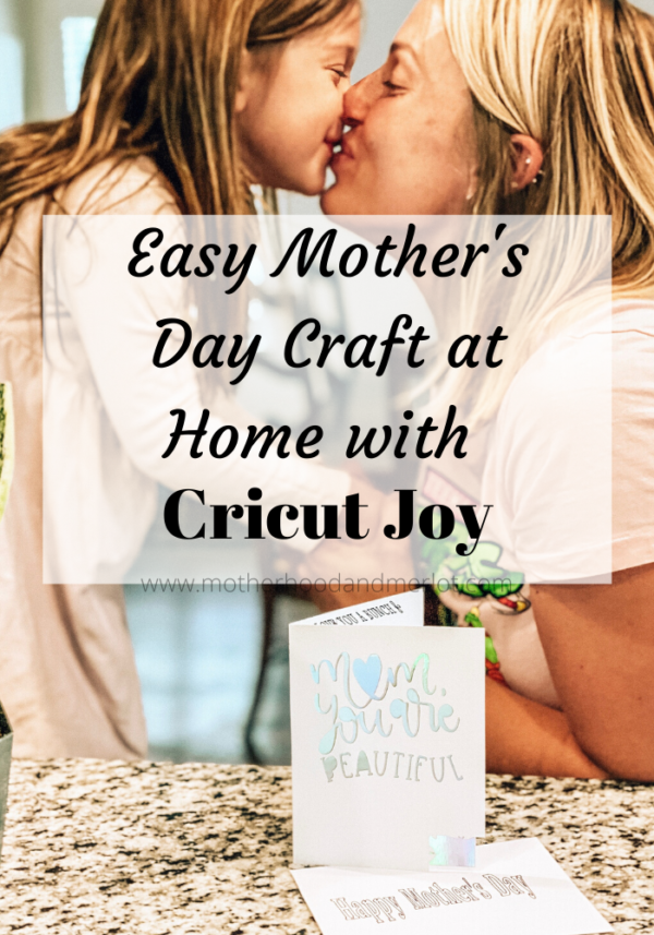 This easy at home craft project is a great and beautiful idea for Mother's Day. This was done using Cricut prodcuts and the new Cricut Joy.